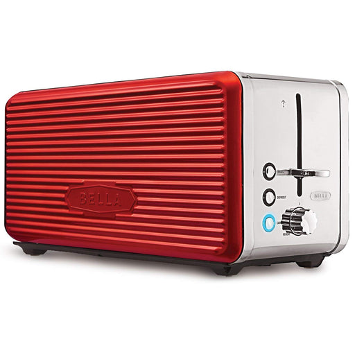 BELLA 14087 Linea Collection 4 Slice Toaster, Red