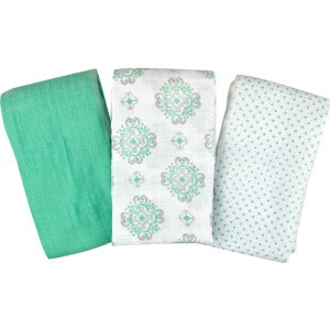 SwaddleMe Muslin Swaddle Blankets, 3-Pack, Ornate Geo