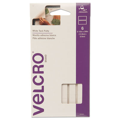 VELCRO USA, INC. Sticky Fix Tak, 6 Bars/Pack, White (91404)