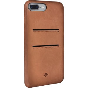 Relaxed Leather Case w/ Pockets for iPhone 7 Plus (Cognac)