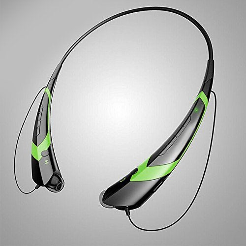 YT TM-760 Bluetooh neckband style headset, Sport Headphones,Compatible wireless earphones, up to 360 Hrs standby Earbuds Black/Green