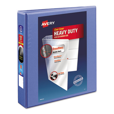 AVE17553 - Heavy Duty Nonstick View Binder w/Locking 1 Touch EZD Rings