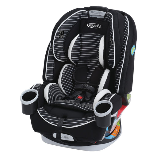 Graco 4ever All-in-One Car Seat, Studio - 10 Year Use with 1 Car Seat - 6 Position Recline - Steel Reinforced Frame - Fuss Free Harness - 2 Integrated Cupholders