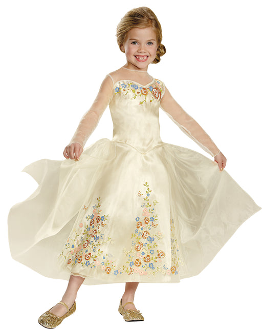 Disguise Cinderella Movie Wedding Dress Deluxe Costume, Large (10-12)
