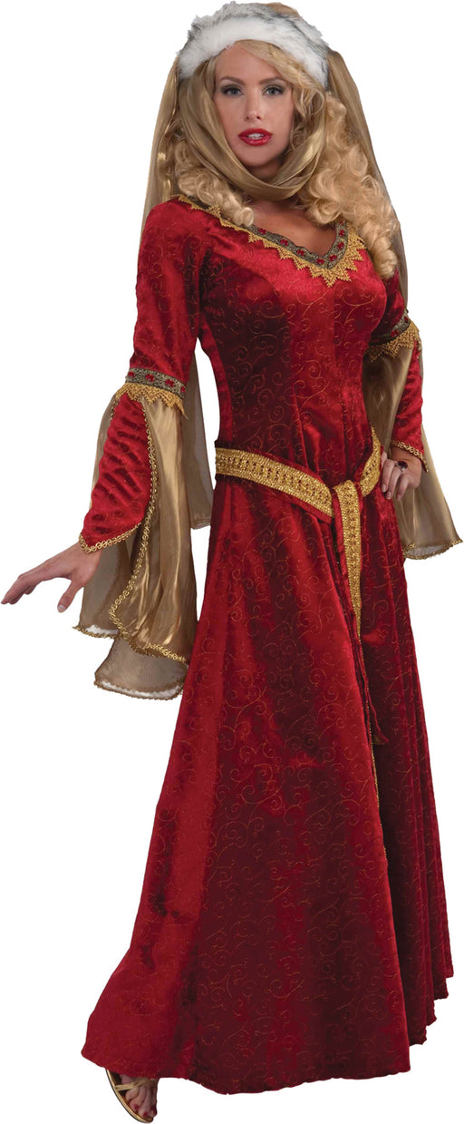 Forum Novelties Women's Designer Collection Deluxe Scarlett Renaissance Maiden, Multi, Small