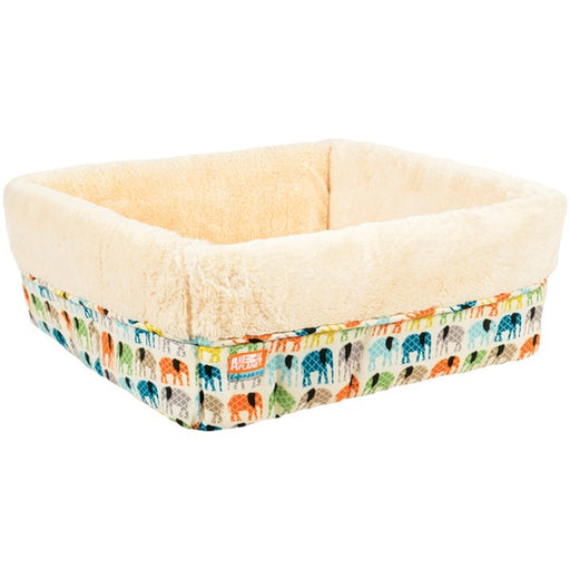 "Animal Planet Square Cuff Elephants, Cream, 17"" x 6"","