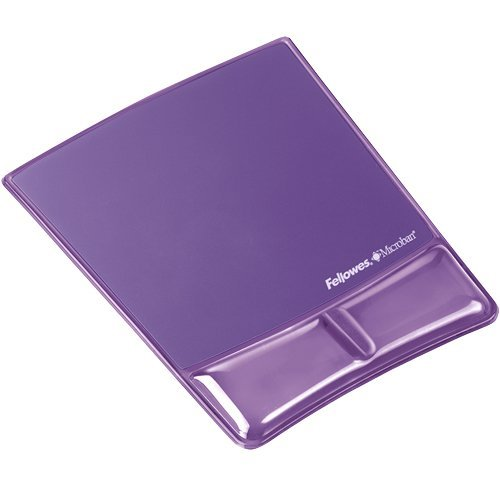 Fellowes Professional Series Mouse Pad/Wrist Support-Purple, Gel