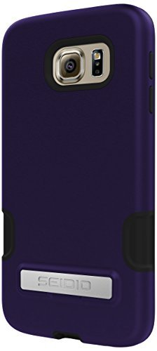 Seidio Dilex Pro Case with Metal Kickstand for Samsung Galaxy S6 - Retail Packaging - Violet