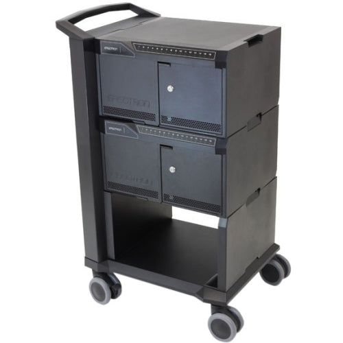 Ergotron DM32-1004-2 Tablet Management Cart 32 with ISI - Cart for 32 tablets - aluminum, steel, ABS plastic - black - screen size: up to 10 inch
