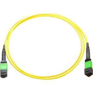 Axiom MPO Female to MPO Male Singlemode 9/125 Fiber Optic Cable - 25m - Fiber Optic for Network Device - 82.02 ft - 1 x MPO Female Network - 1 x MPO Male Network - 9/125 µm - Yellow