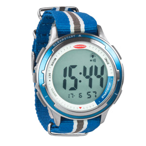Ronstan Clear Start™ Sailing Watch - 50mm (2) - Stainless Steel w/Blue Canvas Band