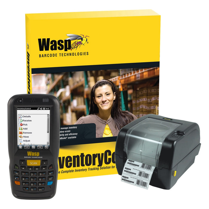 Wasp Barcode Inventory Control RF Standard, Inventory Tracking Solution with DT60 (Numeric) and WPL305, 1 User