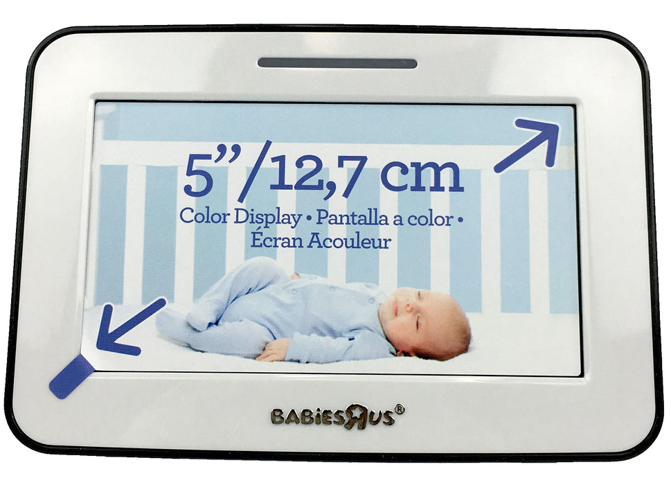 Babies R Us 5 Inch Video Baby Monitor with Night Vision, Color Flat Screen