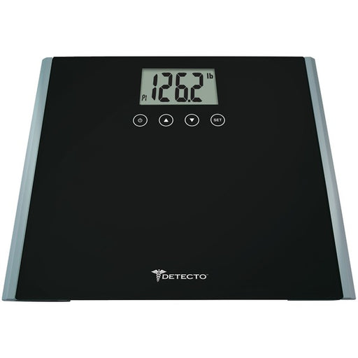 Detecto D1230400US Glass LCD Scale with Calorie Predictor & Weight Tracking, Multicolor