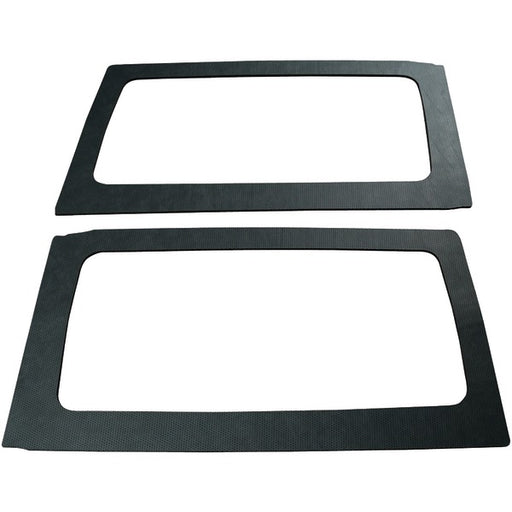 Design Engineering 050165 Black Leather Look Sound Deadening Side Window Kit for 2-Door Jeep Wrangler (2011-2016)