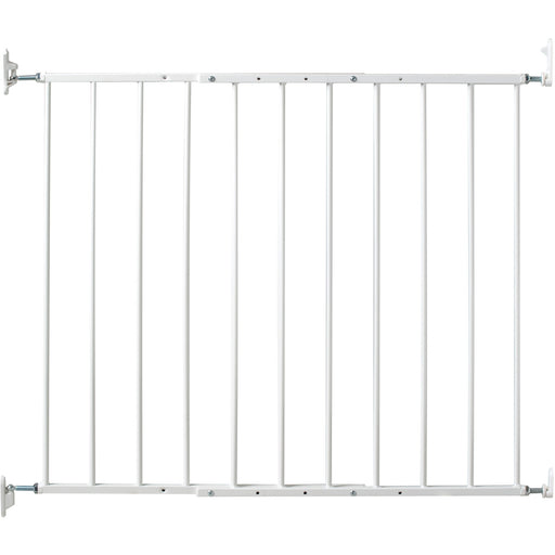 KidCo Safeway Gate - White - Safeway Gate - Top of Stairs or Room Divider - One Hand Quick Release - Made with Steel