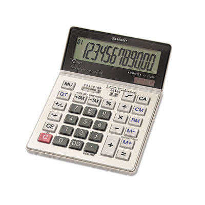 "12-Digit Calc., Tax Feature, Dual Pwr, 5""x7""x7/8"", Gray, Sold as 1 Each - Sharp * 12-Digit Calc., Tax Feature, Dual Pwr, 5""x7""x7/8"", Gray"