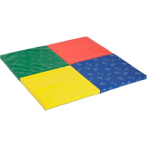 ECR4Kids SoftZone Hands and Feet Play Mat, 4-Fold, Assorted