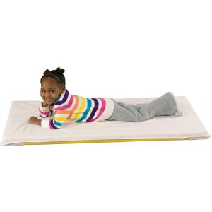 "ECR4Kids Rest Mat Sheet, 48"" x 24"", White (10-Pack)"