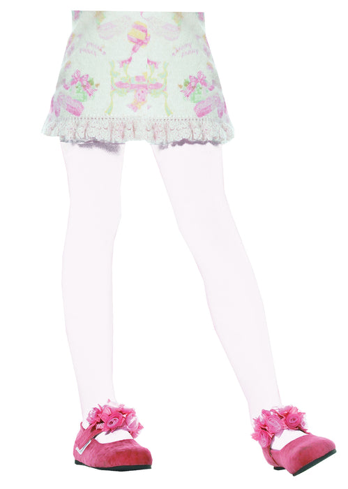 Leg Avenue Kids White Tights - XL