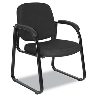 Alera ALERL43C11 Reception Lounge Series Sled Base Guest Chair, Black Fabric