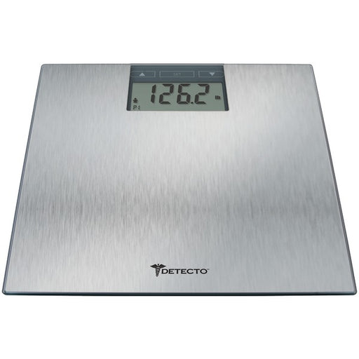 Detecto D1300400US D130 Stainless Steel LCD Digital Scale with BMI Estimator, Multicolor