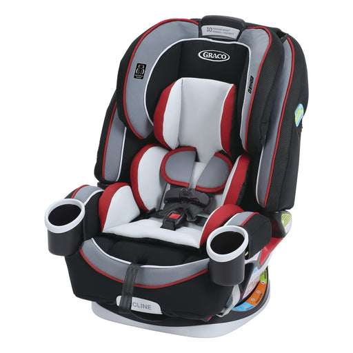 Graco 4ever All-in-One Car Seat, Cougar - 10 Year Use with 1 Car Seat - 6 Position Recline - Steel Reinforced Frame - Fuss Free Harness - 2 Integrated Cupholders