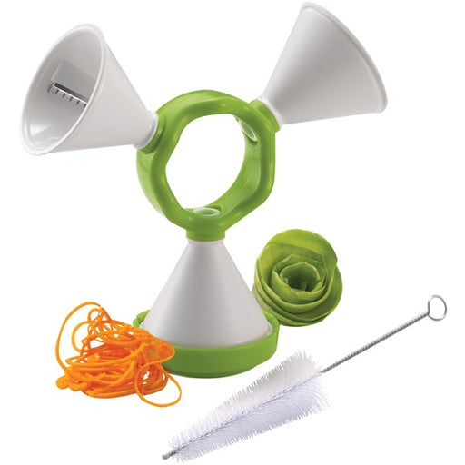 Starfrit 070731-006-0000 3-in-1 Spiralizer, White/Green