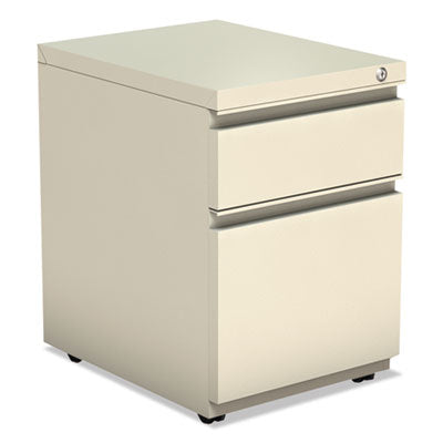 Alera ALEPBBFPY Two-Drawer Metal Pedestal Box File w/Full Length Pull, 14 7/8w x 19 1/8d, Putty