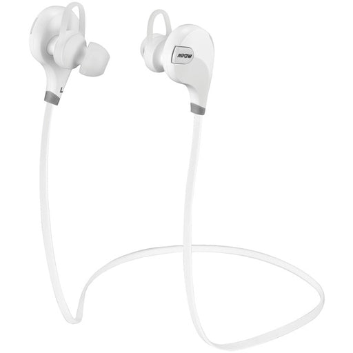 Mpow X1.0- Wireless in-Ear Headphones, Comfortable, Sweatproof, Superior Audio, Tangle Free, Signal Enhance Technology- White