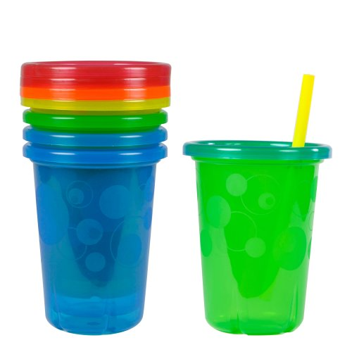 The First Years Take and Toss Spill-Proof Straw Cups, 10 Ounce