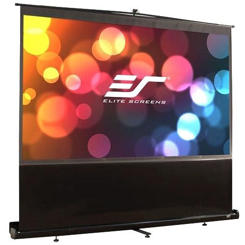 Elite Screens ezCinema Series, 150-inch 4:3, Portable Floor Pull Up Projection Screen, Model: F150NWV