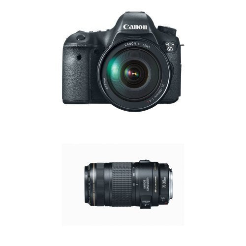 Canon EOS 6D Digital SLR Camera with 24-105mm USM and 70-300mm Lens