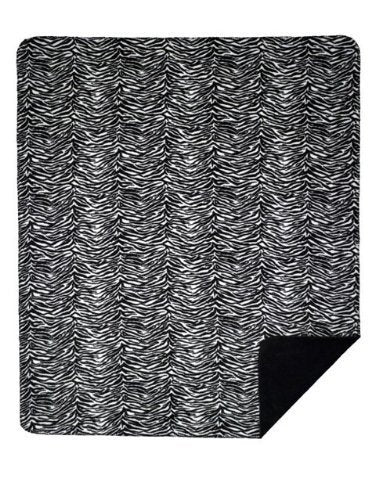 Denali Home Collection by Mont Double-Sided Reversible Throw, 60 by 70-Inch, Zebra/Black