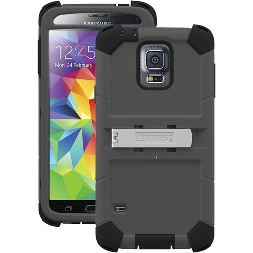 Trident Kraken AMS Series Case for Samsung Galaxy S5 - Retail Packaging - Grey