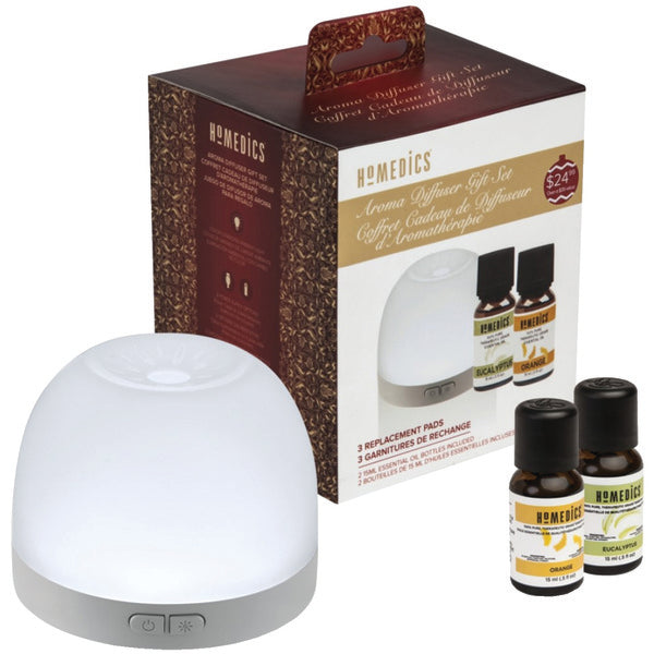 Homedics Portable Essential Oil Diffuser - Holiday Gift Set with Pads and Oils