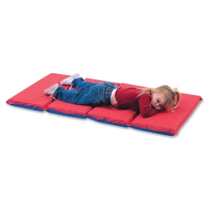 High School Rest Mat (4 Section 24 x 48 x 1 - Red and Blue in 10 Pack)