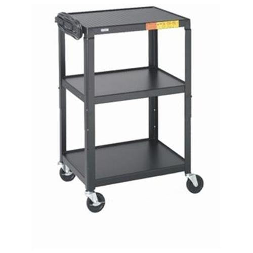 "Bretford A2642 26 - 42"" High UL Listed Adjustable Audio Visual Cart Electrical: None, Finish: Black"
