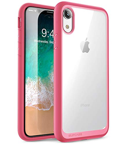 iPhone XR case, SUPCASE [Unicorn Beetle Style Series] Premium Hybrid Protective Clear Case for Apple iPhone XR 6.1 inch 2018 Release (Pink)