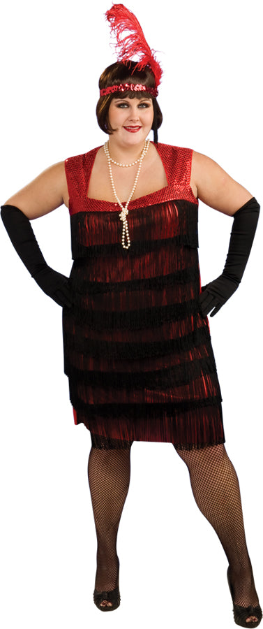Flapper Costume - Plus Size - Dress Size Up to 18