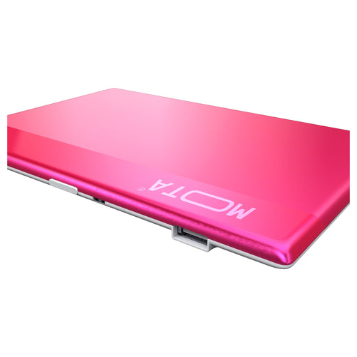 MOTA 800mAh Credit Card-Sized Ultra Small Portable Charge Card - Retail Packaging - Pink
