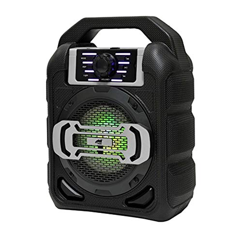 "4"" Bluetooth Portable Party Speaker w/LED Lights"