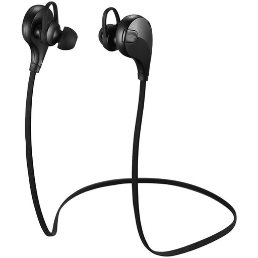 Mpow X1.0- Wireless in-Ear Headphones, Comfortable, Sweatproof, Superior Audio, Tangle Free, Signal Enhance Technology- Black