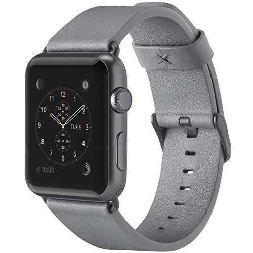 Belkin Classic Leather Wristband for Apple Watch Series 2 and Apple Watch Series 1 (42 mm), Gray