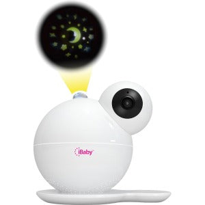 iBaby WiFi M7 Baby Monitor 1080P Wireless Video Camera with Thousands of lullabies & Bed Stories, Motion and Cry Alert, Temperature & Humidity Sensors, Air Sensors, Moonlight Projector