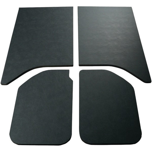 DEI 050160 2011-2016 Jeep Wrangler Sound Deadening Headliner 2-Door Leather Look, Black - 4 Piece