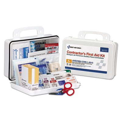 First Aid Only 90753 25 Person Contractor ANSI A+ First Aid Kit