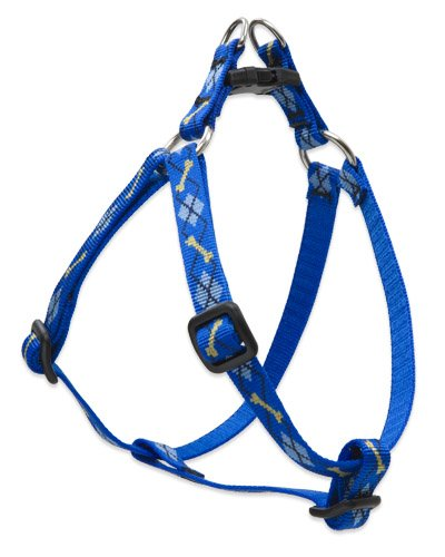 "LupinePet Originals 1/2"" Dapper Dog 12-18"" Step In Harness for Small Dogs"