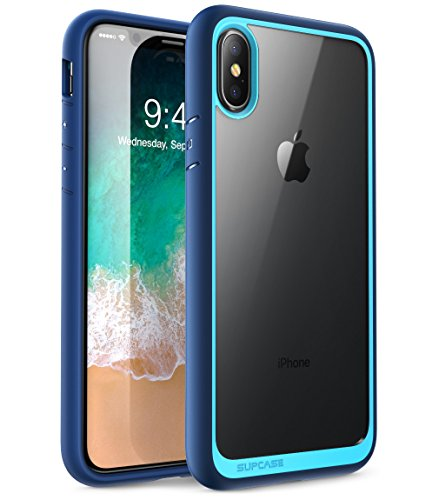 iPhone Xs Case, iPhone X Case, SUPCASE [Unicorn Beetle Style] Premium Hybrid Protective Clear Case for for iPhone X 2017 & iPhone Xs 5.8 inch 2018 Release (Blue)