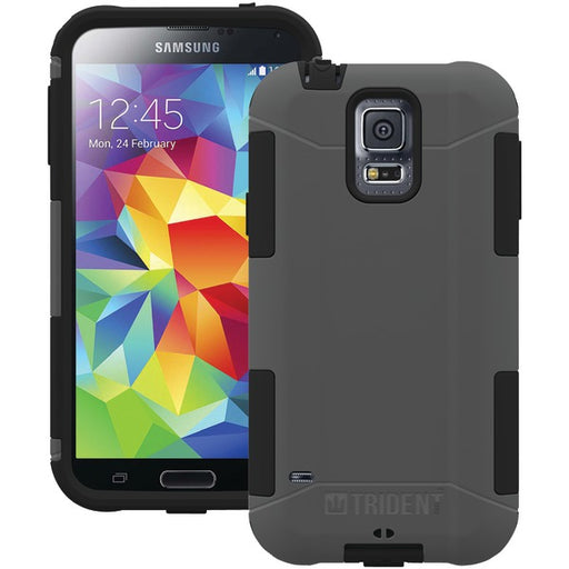 Trident Aegis Series Case for Samsung Galaxy S5 - Retail Packaging - Grey